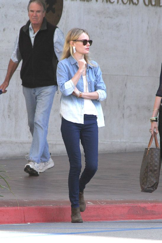26099c8f70c Love Kate Bosworth's denim shirt. | Style | Hot outfits, Street ...