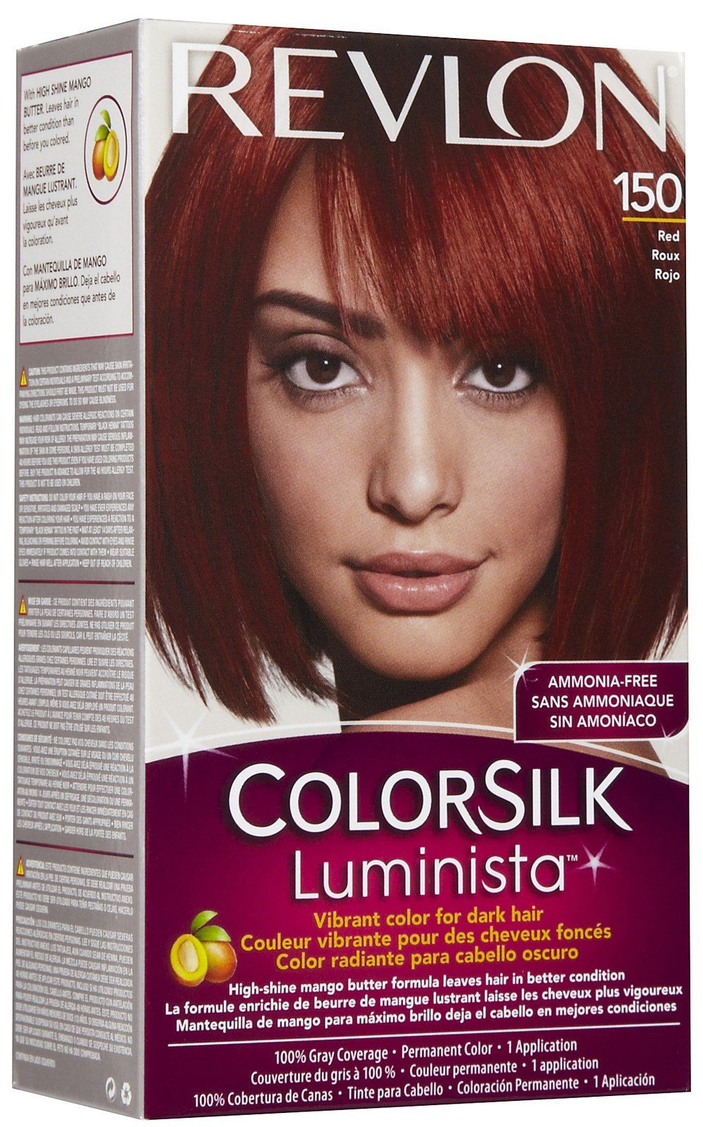 Revlon Colorsilk Luminista Permanent Hair Color, Light Red | Hair ...