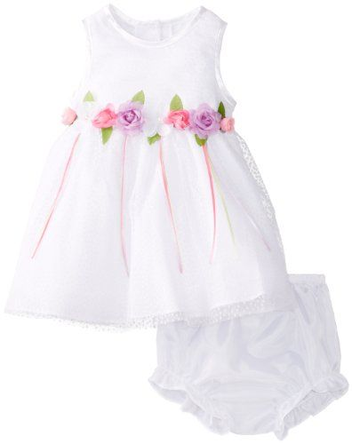 Save $22.01 on Rare Editions Baby Baby-Girls Infant Flock Dot Mesh Social Dress; only $31.99