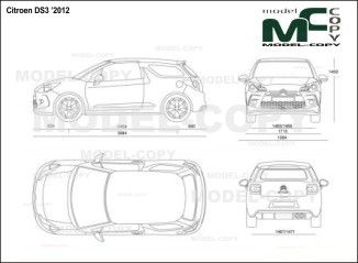 Citroen ds3 2012 blueprints ai cdr cdw dwg dxf eps gif citroen ds3 2012 blueprints ai cdr cdw dwg dxf malvernweather Images