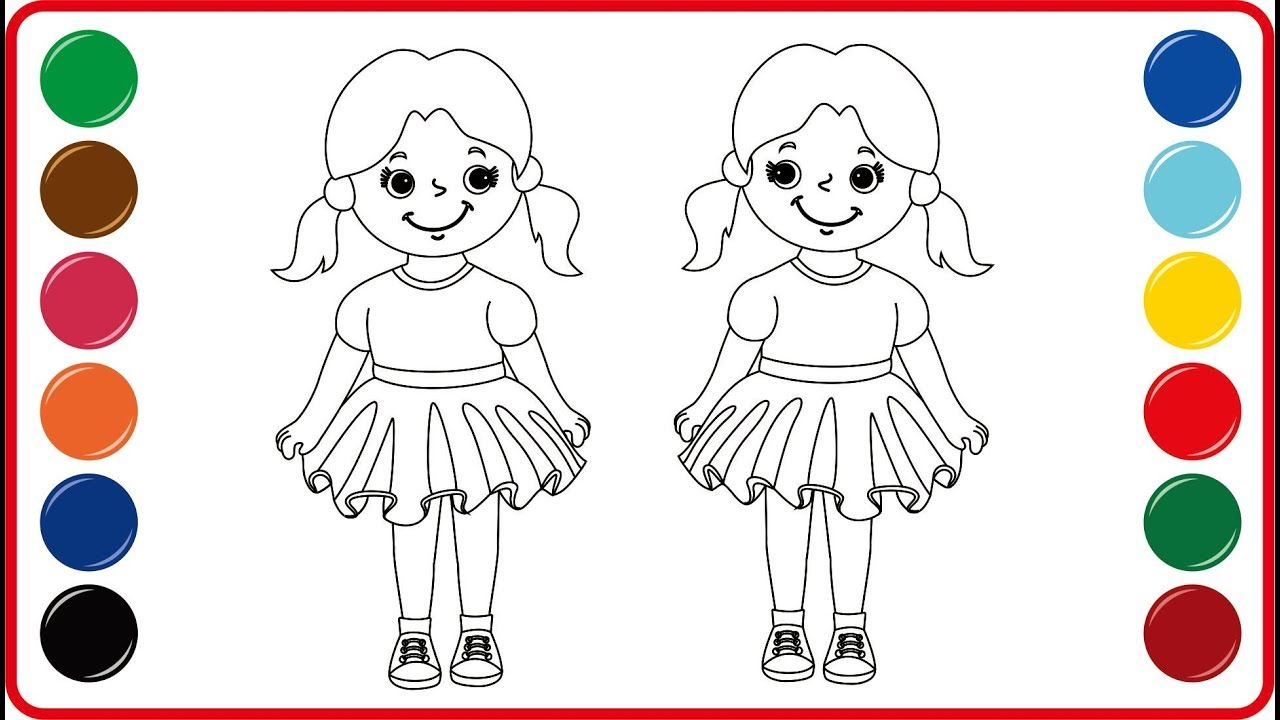 Menggambar Dan Mewarnai Boneka Drawing And Coloring Pages