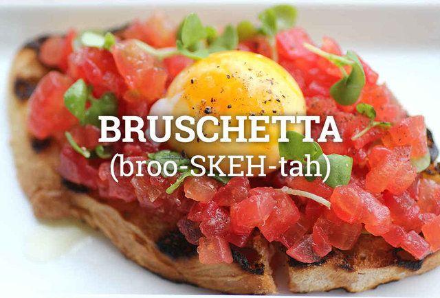 broo-SKEH-tah Italian food pronunciation guide