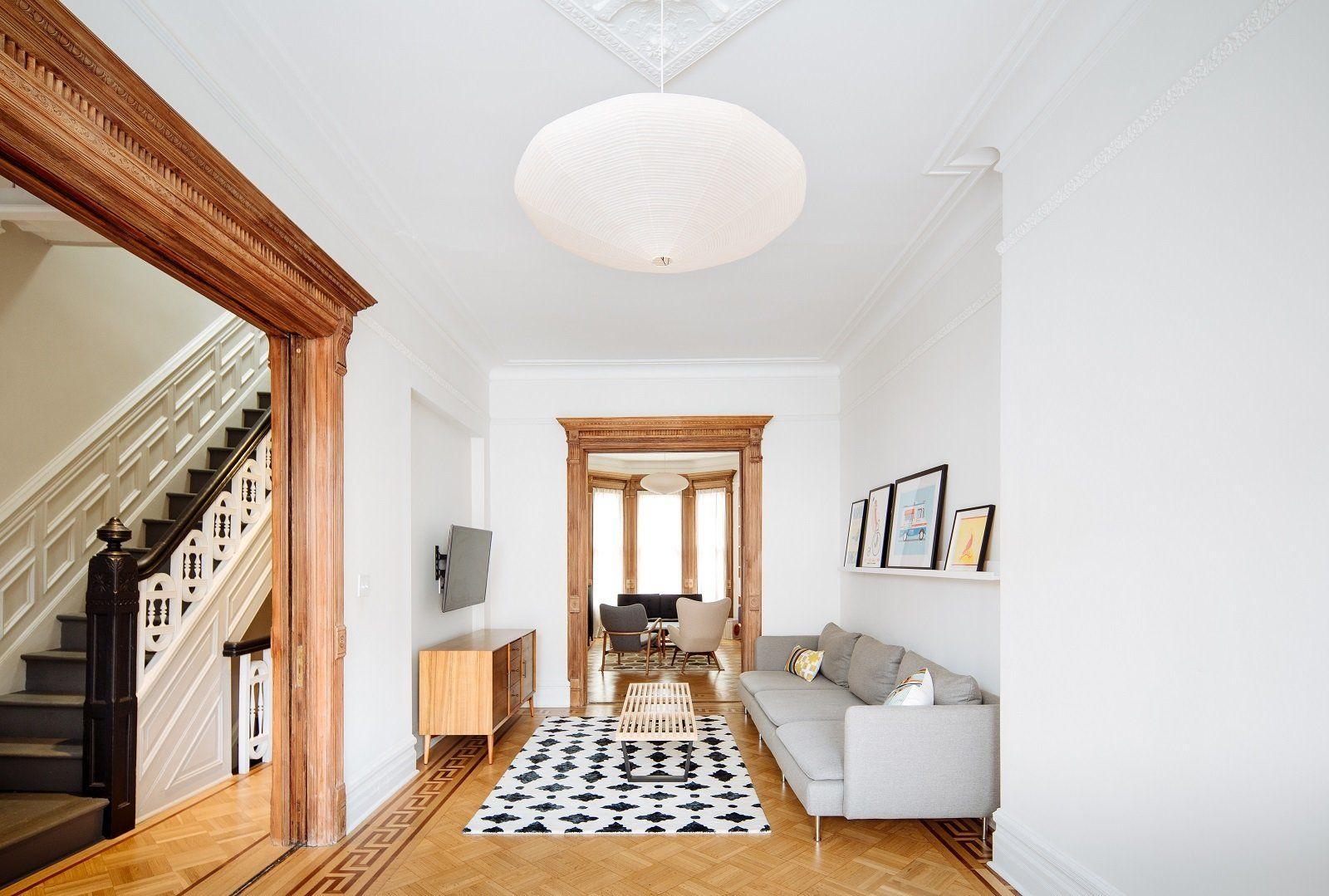 Parlour level Living Room: restored existing woodwork bringing it ...