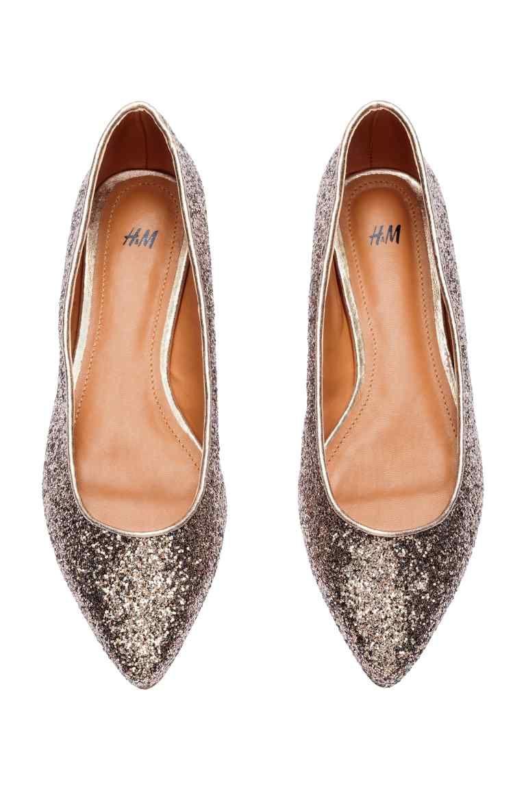 Nouveau Chic Métal Transparent Fermé bout pointu Brillant Pointu Ballerines plates Femmes & # 39; Chaussures,noir,36