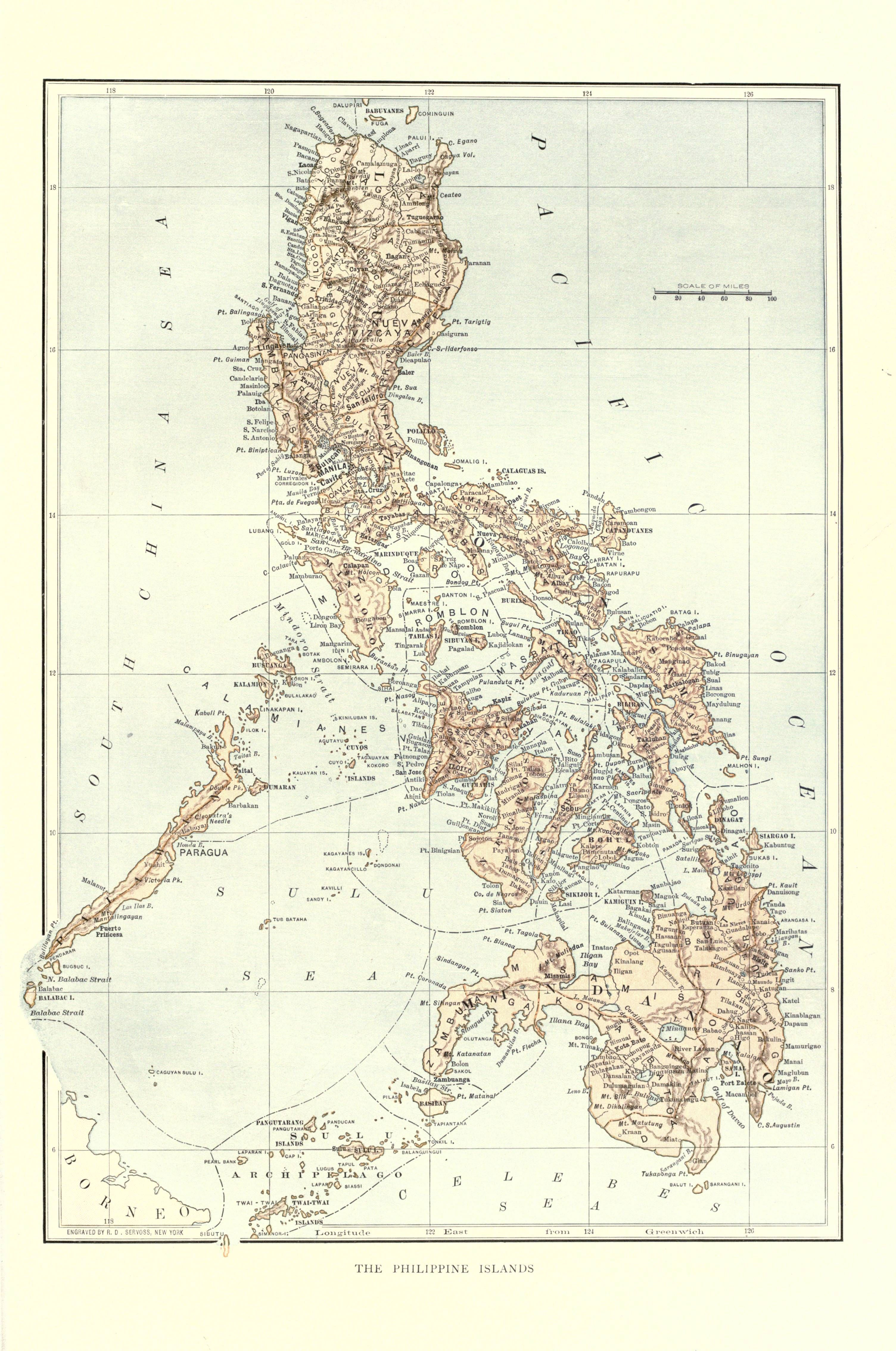 map of the philippines at the end of the th century from  - map of the philippines at the end of the th century from harper'spictorial history