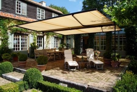 Shading Your Patio | ... Shade Instead Of Outdoor Umbrellas For Your  Outdoor Set