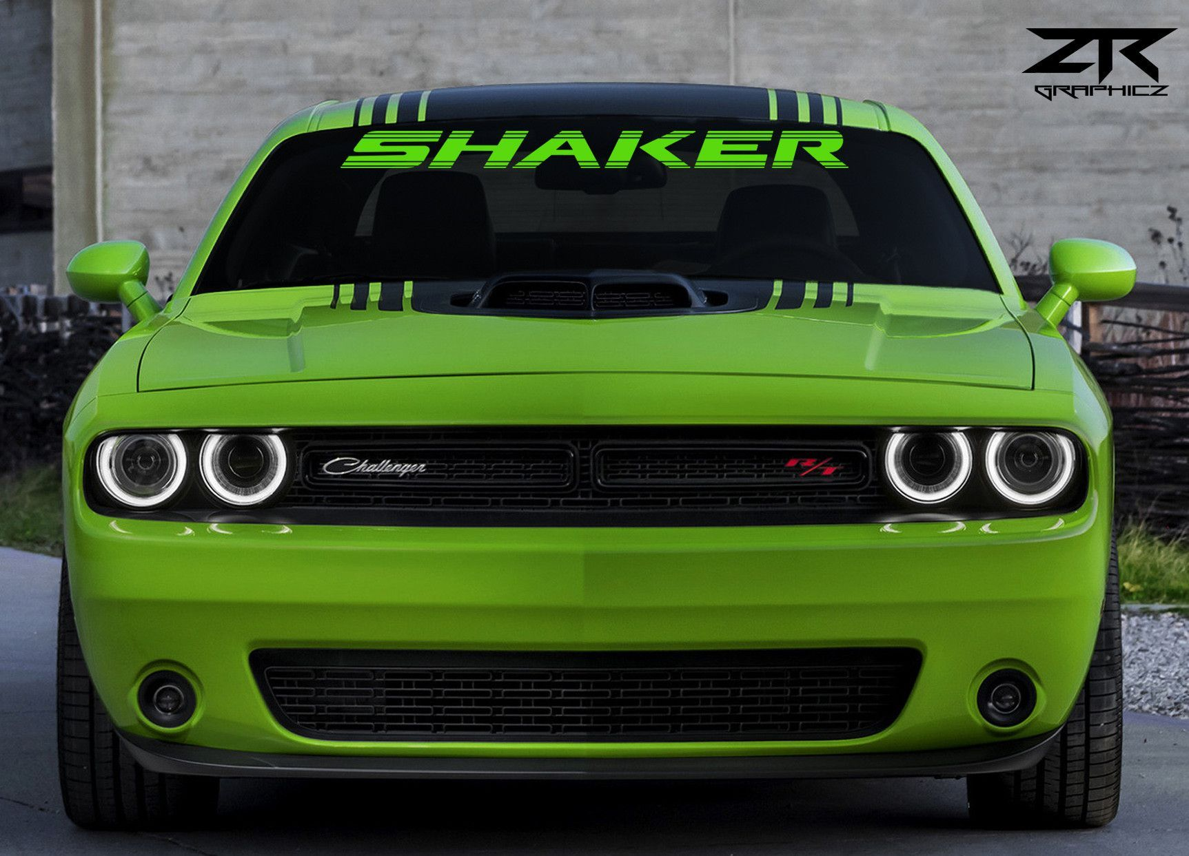 dodge challenger rt shaker windshield decal | challenger rt, dodge