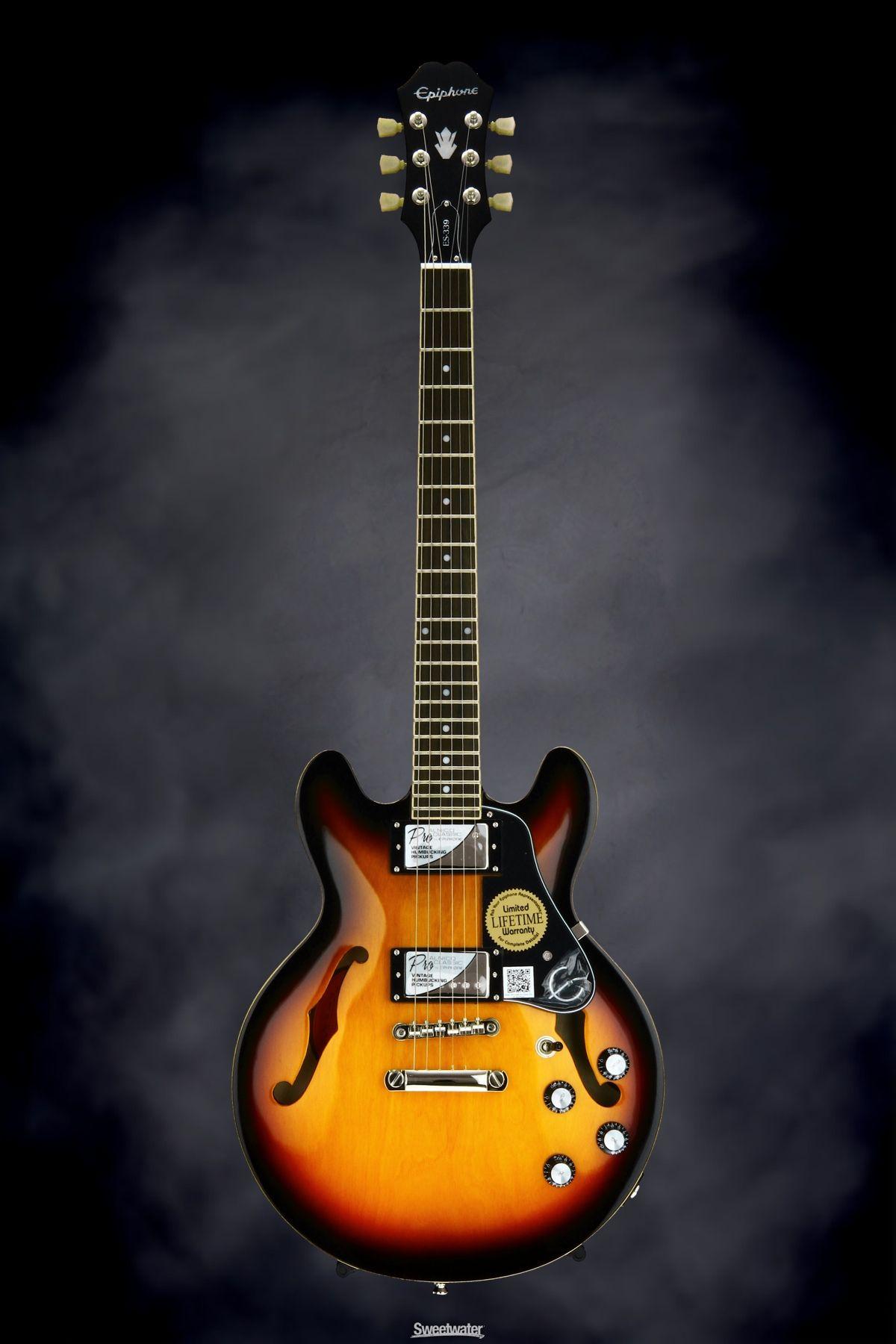 epiphone sheraton 1960 sunburst reverb music guitars