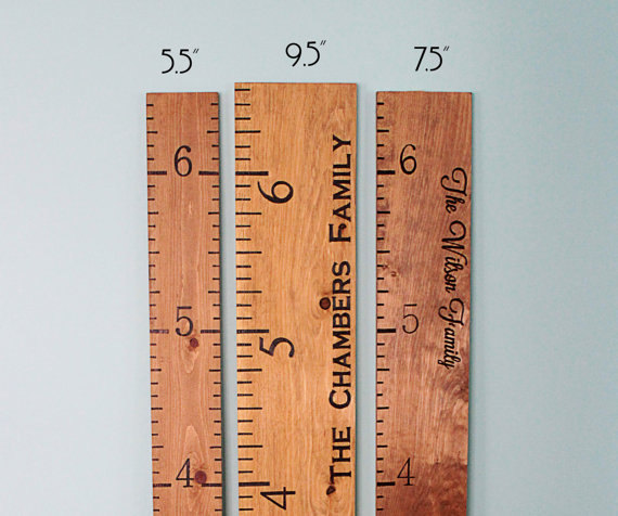 Personalized Growth Chart Engraved Growth Chart Growth Ruler