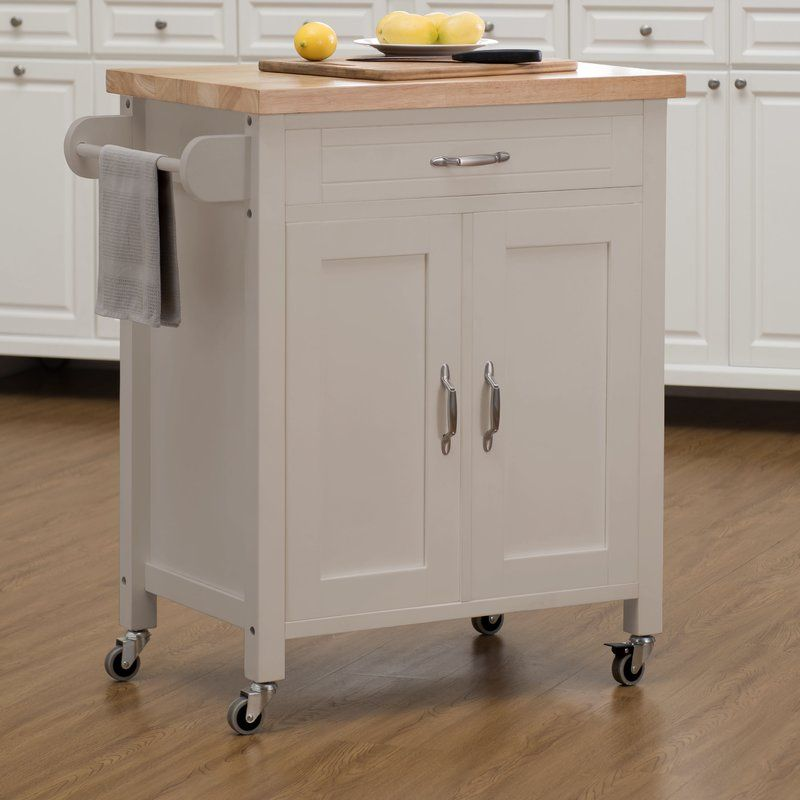 Pleasing Fresnay Kitchen Island With Wooden Top Home Kitchen Cart Andrewgaddart Wooden Chair Designs For Living Room Andrewgaddartcom