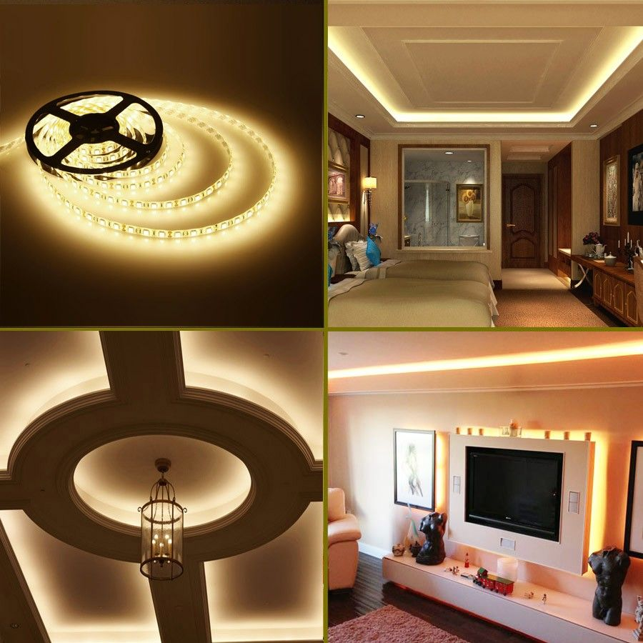 Le 12v Flexible 5050 Smd Led Strip Lights Warm White Super