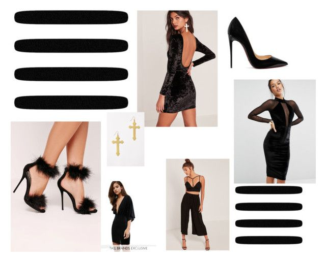 """""""Bhuyjnm"""" by anjela-02 on Polyvore featuring Missguided and Christian Louboutin"""