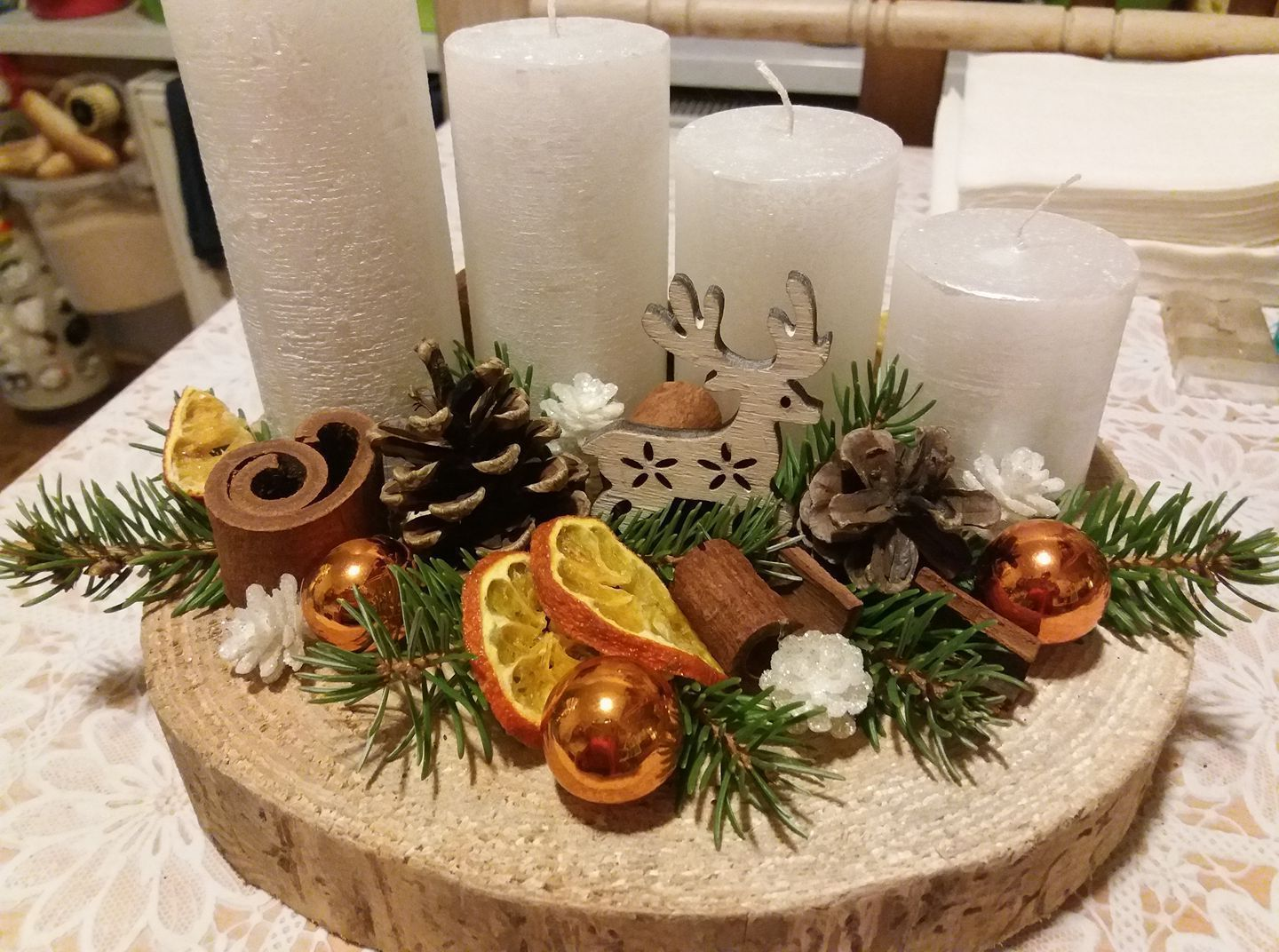 70 Simple And Popular Christmas Decorations Table Decorations Christmas Cand Christmas Candle Centerpiece Christmas Centerpieces Christmas Candles