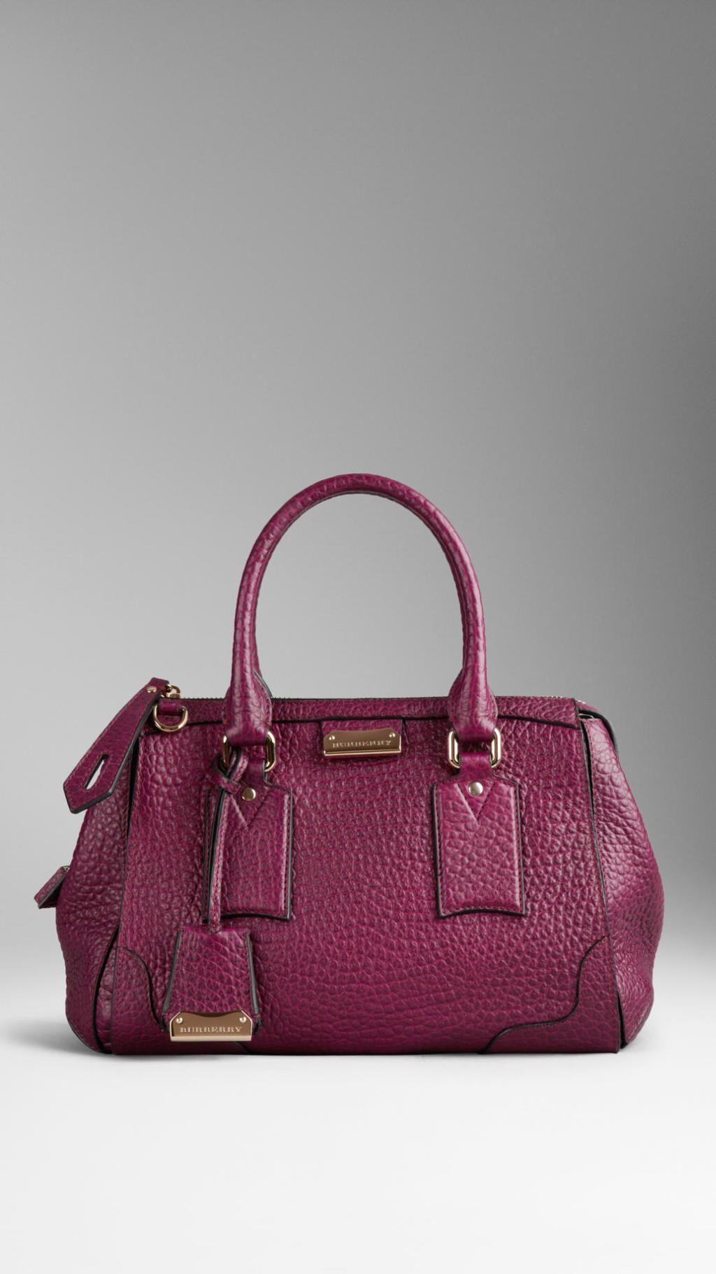 6b726b95ab12 Burberry - Purple Small Heritage Grain Leather Tote Bag