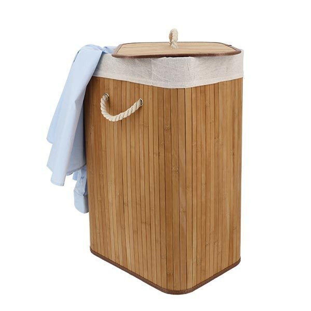 Panier À Linge Original panier À linge « bambou » rectangulaire - taille : taille