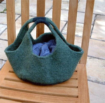 Knitty French Market Bag This Is A Great Project Felting Knitting