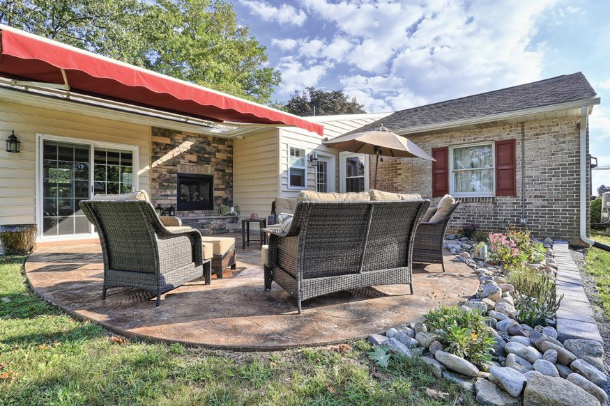 Outdoor living with #patio, #fireplace, and patio ... on Backyard Renovation Companies id=30315