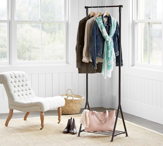 When your closet can't handle it all, this clothing rack from Pottery Barn steps up. It looks great organizing coats by the door, or in the bath with towels and robes.