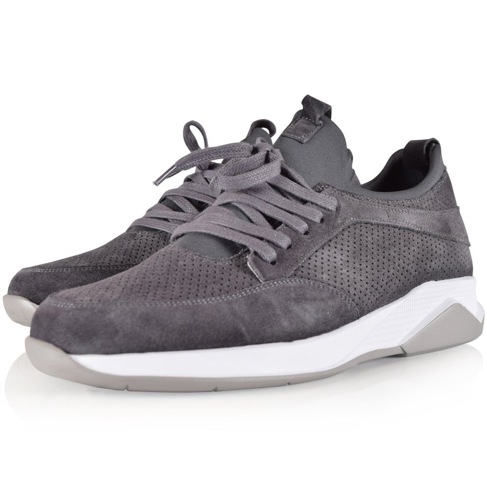 MALLET FOOTWEAR Mallet Footwear Grey Suede Archway Trainers - Men from  Brother2Brother UK