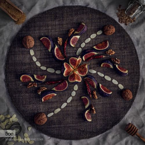 Fig-Ornament #2 by xplor-creativity  IFTTT 500px wooden Chili Food Tabletop almonds autumn delicious dessert figs fresh fruit habaneros