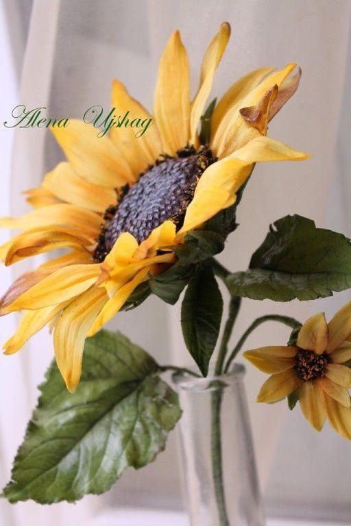 Cake Topper Medium Gum Sugarpaste Wedding SUNFLOWER Sugar Flower