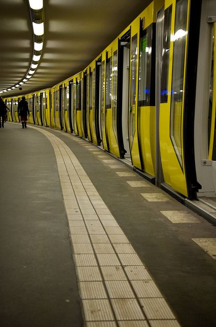 U-Bahn in Berlin, Germany.  I rode these more often than I drove when I lived in Berlin