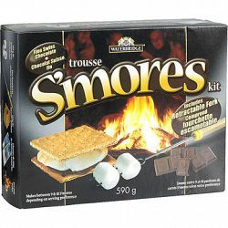 Gather around a warm campfire with friends or family! This S'mores kit includes everything you need to make your campfire treat! It even includes a retractable fork! Makes between 9 and 18 S'mores.