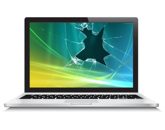 Cracked Or Damaged Laptop Screen If Your Screen Suffers From No Video Is Cracked Bleeding And Or Multicolor Screen Repair Laptop Screen Repair Laptop Screen