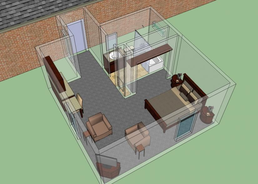 master bedroom additions over garage%0A Here u    s a beautiful  D rendering made with Chief Architect of the new master  bedroom addition  This was a really nice design   scheduled via http    u