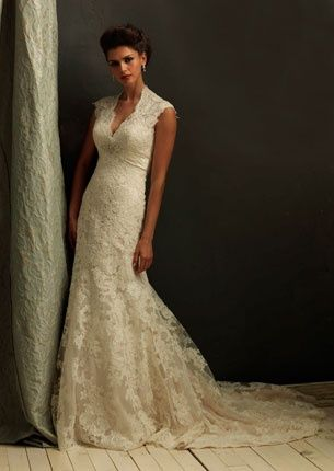 The Classic Wedding Dress for a vintage style.