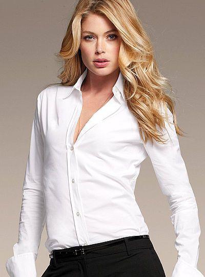 White The French Cuff Poplin Shirt Top Victoria Secret 20 Tops