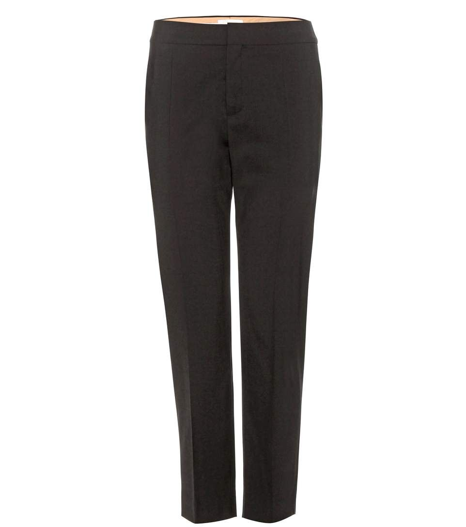Cropped wool trousers Chloé 4A5c3