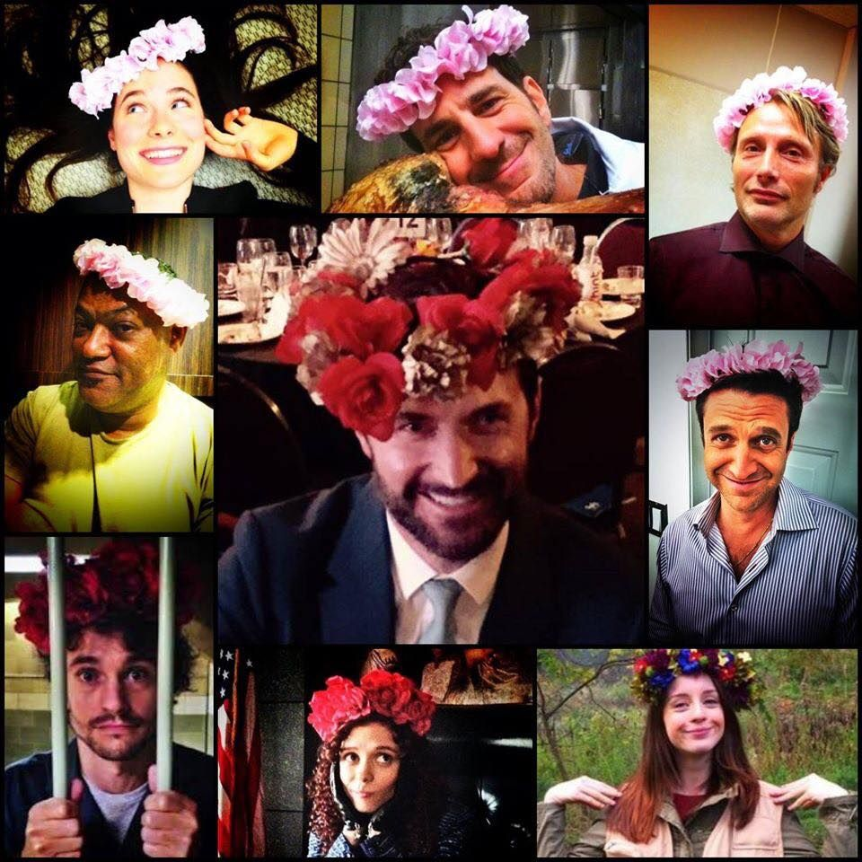 The Hannibal Flower Crown Best Cast Photos Ever Hannibal