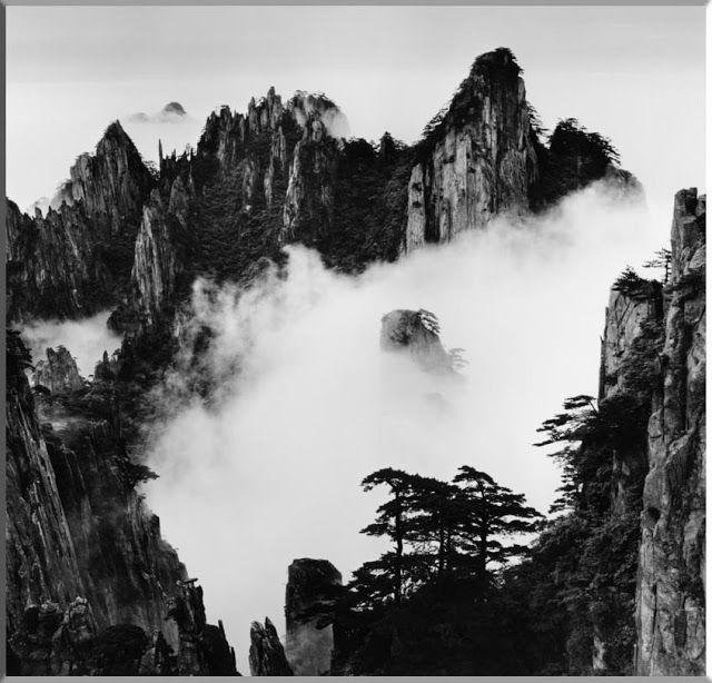 Wang Wusheng Huangshan Yellow Mountains Black And White Landscape Chinese Landscape Painting Huangshan