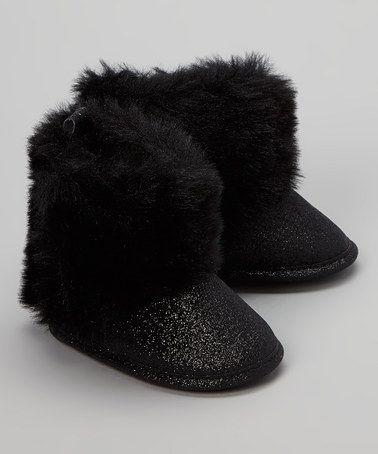 eddc9642e4 Look what I found on  zulily! Black Fuzz Boot by Rugged Bear  zulilyfinds