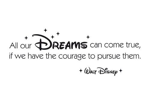 Wandtattoo All Our Dreams Can Come True Advice To Take Pinterest