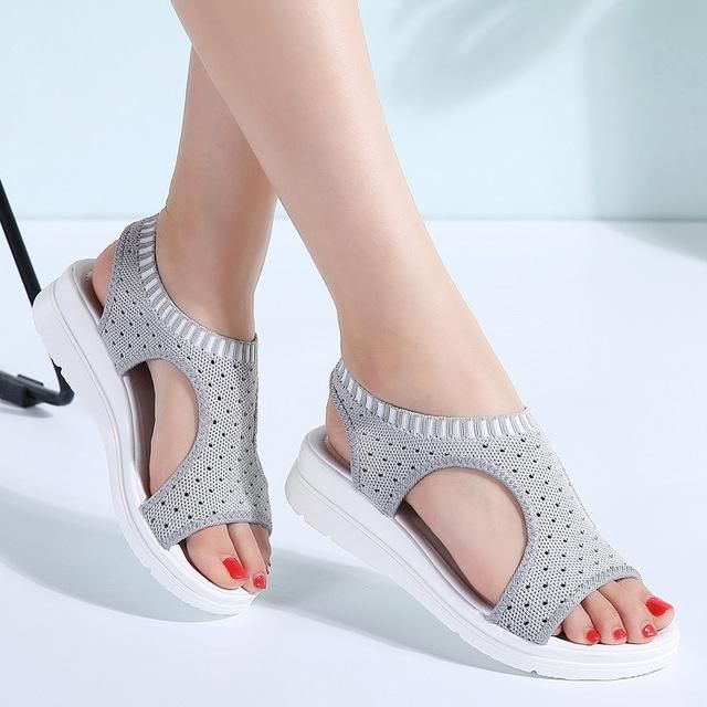 d7418ba9ea5e7f PINSEN Women Sandals 2018 New Female Shoes Woman Summer Wedge Comfortable  Sandals Ladies Slip-on Flat Sandals Women Sandalias