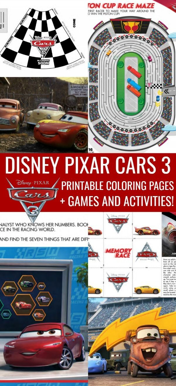 Disney Cars Coloring Pages Printable Activities 3 In Theaters 6 16