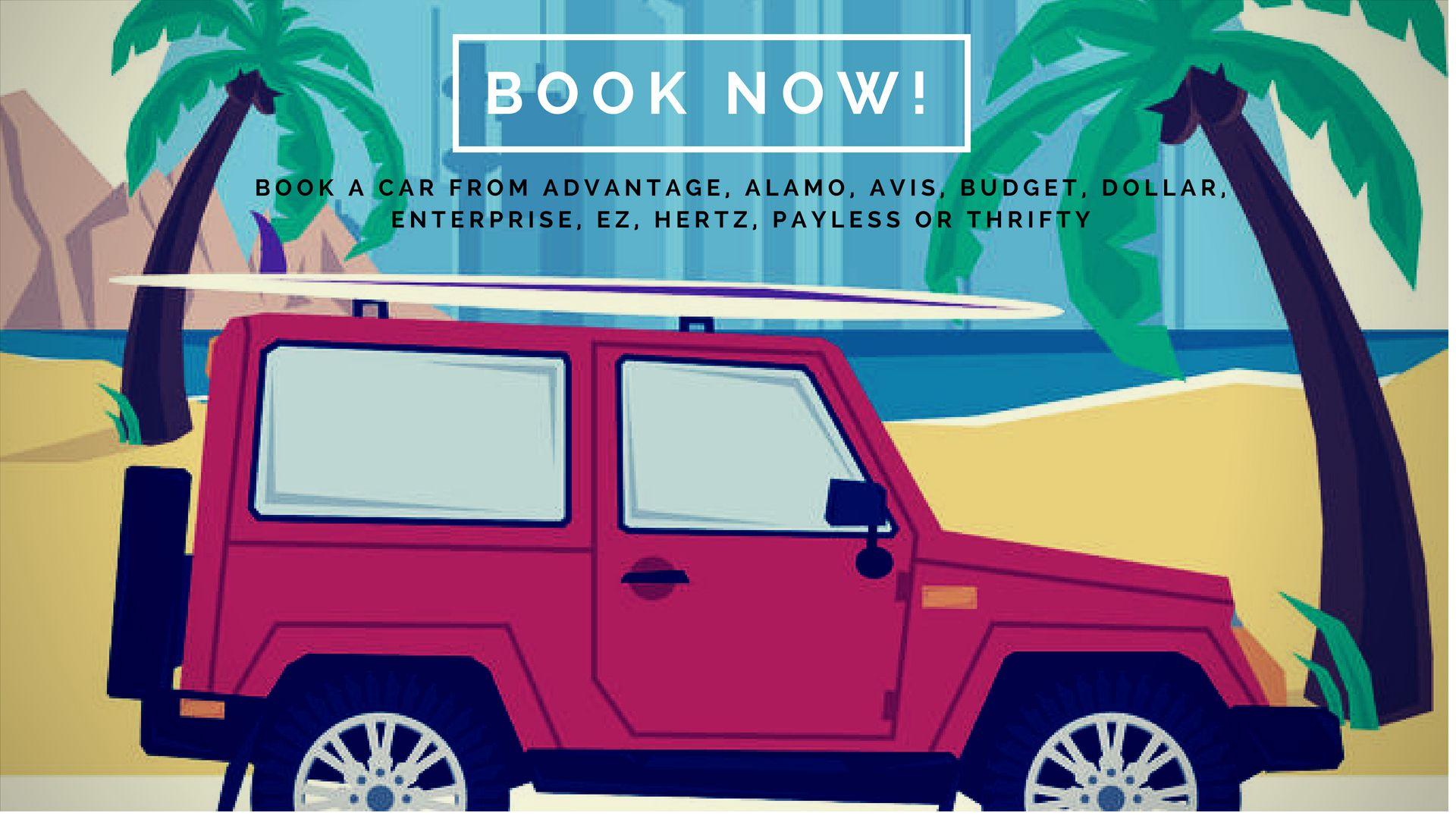 Pick your Rental car at Kahului Airport, Kihei, and Makena