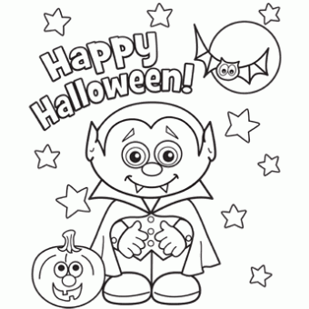 free halloween coloring pages | Little Vampire - Free-N-Fun ...
