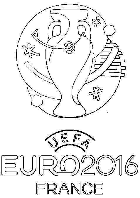 Logo Euro 2016 En France Coloriage Foot Coloriage Image Coloriage