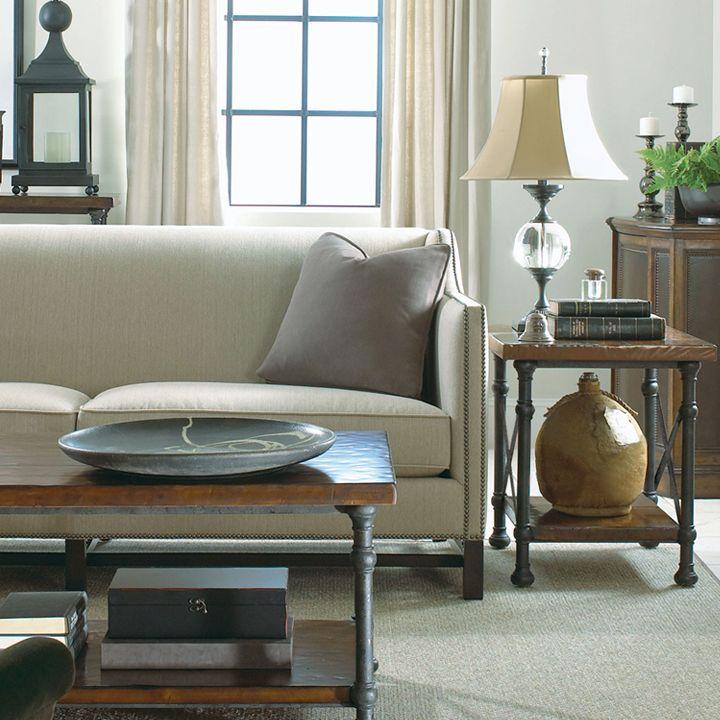 Bernhardt Chatham Sofa Vintage Patina Tables
