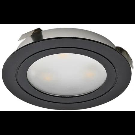 Hafele 833 78 142 Black 3 Watt Round Recessed Led Downlight Downlights Hafele Led Puck Lights