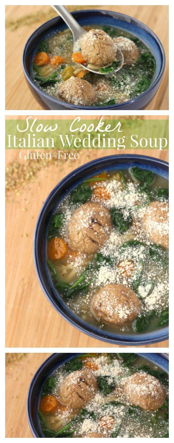 Gluten Free Crockpot Italian Wedding Soup Recipe Easy