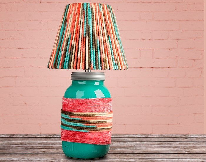 Diy Lamp Shades Amusing 13 Thrifty And Clever Lamp Shade Makeovers  Yarns Clever And Paper Decorating Inspiration