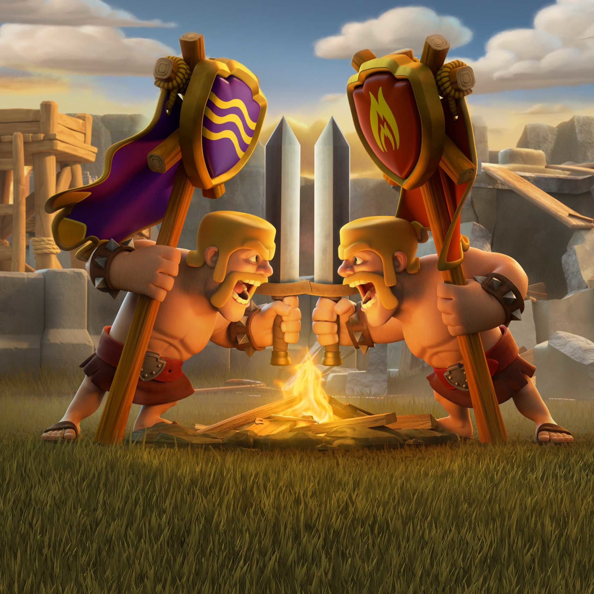 2048x2048 Clash Royale Wallpaper Barbarians Clash Of Clans Hack