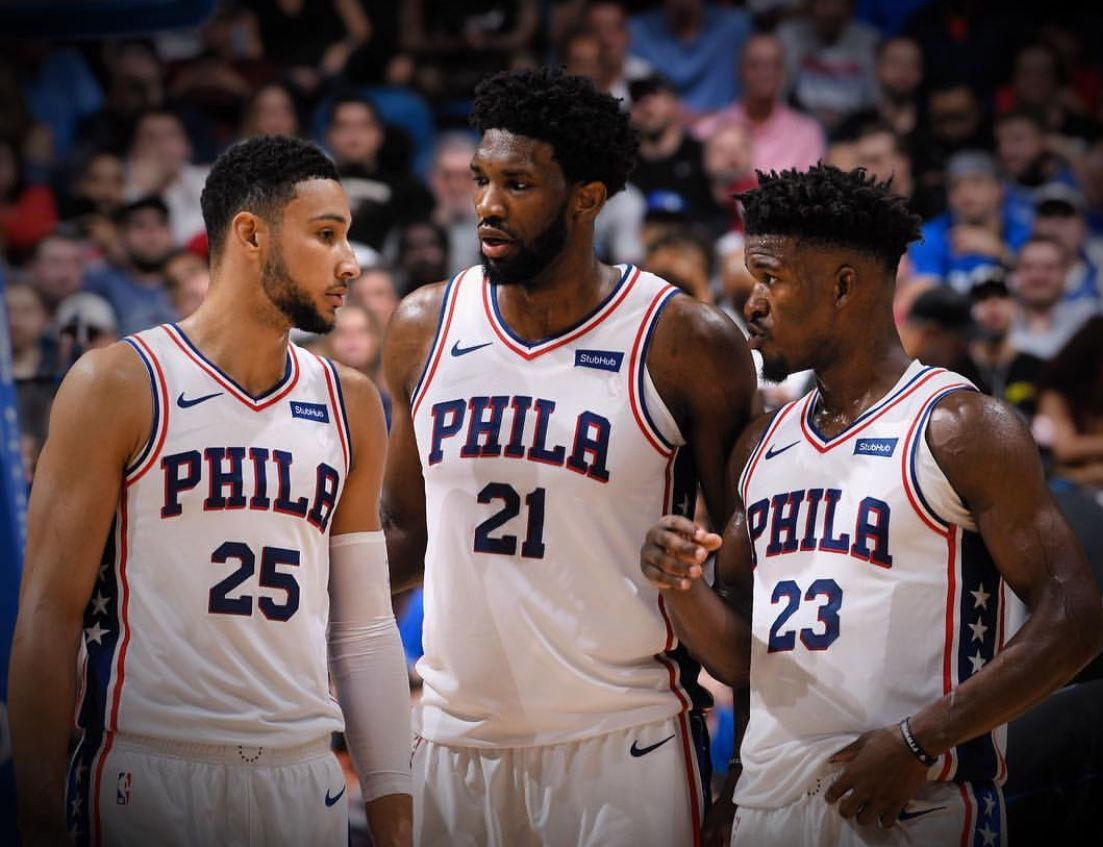 This will be interesting. Ben Simmons, Joel Embiid, and