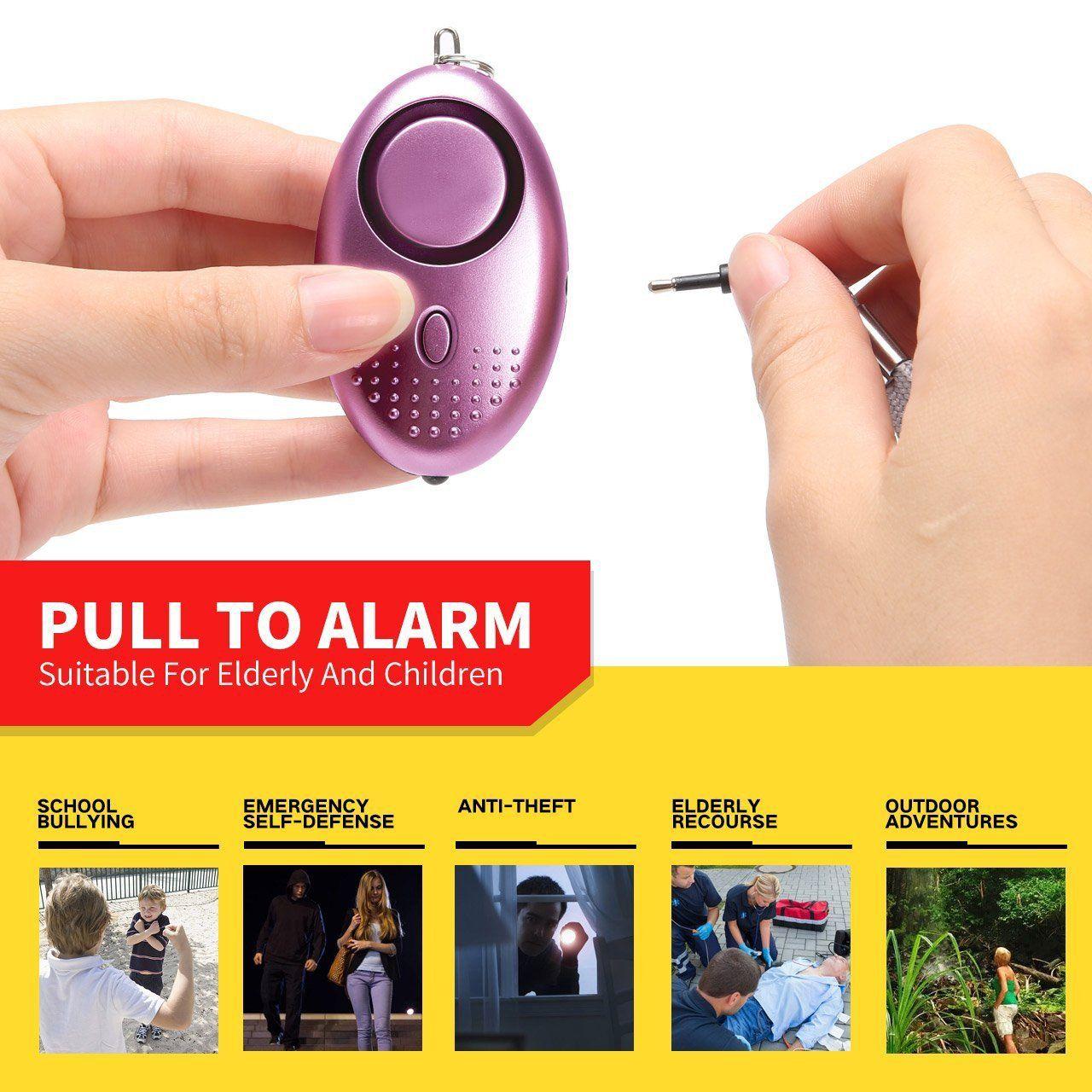 Personal Alarm Cordking 130DB Safe Sound Key Chain Alarm