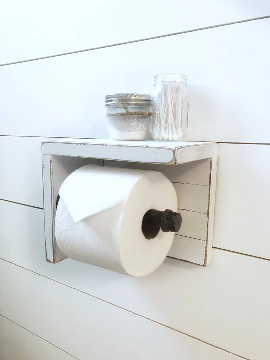 Wood Toilet Paper Holder Cottage Country Corner Bathroom Toilet Paper Holders Toilet Paper Holder Toilet Paper Holder Industrial