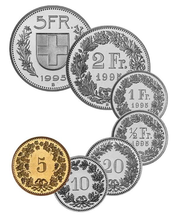 Chf Coins Of The Swiss Franc